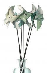 Windrad 3fach-sortiert aus Metall 8 x 5cm 6er Pack