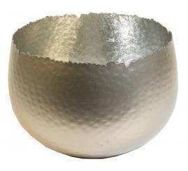 """Topf """"la bomba"""" aus Metall perlmutt-silber d 20cm"""
