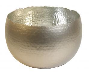 Topf - la bomba - aus Metall perlmutt-silber d 35cm
