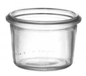 Sturzglas 80ml weiß RR60 (Weck) Karton à 120 Stück