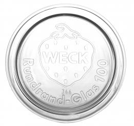 Glasdeckel weiß RR100 Stück