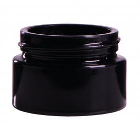 Kosmetikdose 15ml violett Drehverschluss 32 mm (Mironglas) Folienpack à 10 Stück