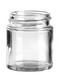 Glastiegel 30ml weiß 38mm/R3