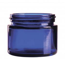 Glastiegel 50ml royalblau 52mm Gewinde
