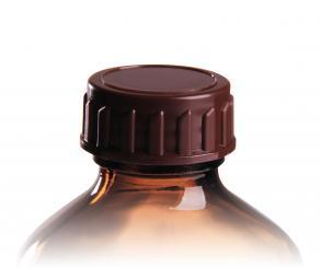 PP28 Schraubverschluss braun für EuroMed Flaschen Standard Folienpack à 100 Stück