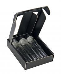 Provetta 50ml - Pack á 25 Stück - 3er Geschenkkarton schwarz