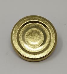 Deckel TO43 gold - mit Button Für ölhaltige Inhalte geeignet - BPA-frei