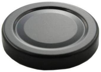 Deckel TO43 schwarz mit Button Für ölhaltige Inhalte geeignet - BPA-frei