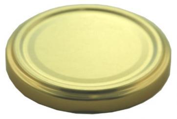 Deckel TO58 gold mit Button Für ölhaltige Inhalte geeignet - BPA-frei Beutel à 100 Stück