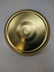 Deckel TO82 gold - mit Button Für ölhaltige Inhalte geeignet - BPA-frei Beutel à 100 Stück