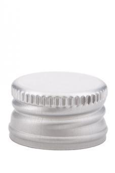 PP28 Schraubverschluss silber - ALU mit Gewinde Beutel à 100 Stück