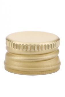 PP28 Schraubverschluss gold - ALU mit Gewinde Beutel à 100 Stück