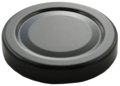 Deckel TO53 schwarz - Ohne Button auch für ölhaltige Inhalte geeignet Stück