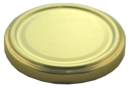 Deckel TO58 gold - ohne Button Für ölhaltige Inhalte geeignet! Stück