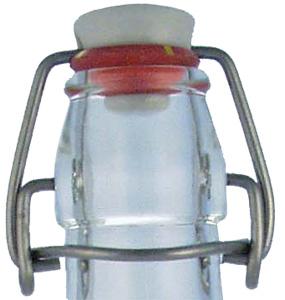 Bügelverschluss weiß groß - Porzellan (BV1) Beutel à 100 Stück