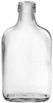 Taschenflasche 200ml weiß PP28 Stück