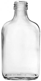 Taschenflasche 100ml weiß PP28 Stück