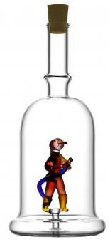 Feuerwehrmann - Flasche 200ml weiß MGB Stück