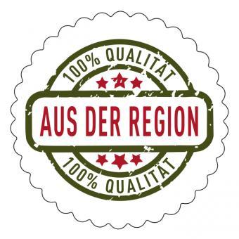Schmucketikett 100 % Qualität - Aus der Region 1 Rolle á 250 Stück Stück