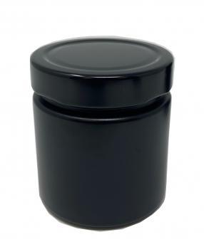Weithalsglas 212ml schwarz-matt. TO66Deep Lieferung ohne Deckel, dieser muss separat bestellt werden Stück