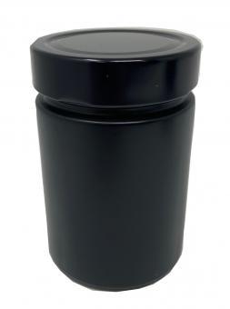 Weithalsglas 314ml schwarz-matt TO70Deep Lieferung ohne Deckel, dieser muss separat bestellt werden Stück