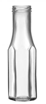 Weithalsflasche 6eck 256ml weiß TO43 Stück