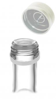 PP31,5 Schraubverschluss silber - Kunststoff mit Ausgießer, Gewinde & Sicherungsring Stück