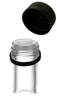 PP31,5 Schraubverschluss schwarz - Kunststoff mit Ausgießer, Gewinde & Sicherungsring Stück