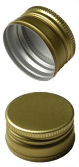 PP22 Schraubverschluss gold - ALU mit Gewinde Beutel à 100 Stück