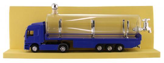 LKW Mercedes blau Kunststoff mit Glastank 500ml Stück