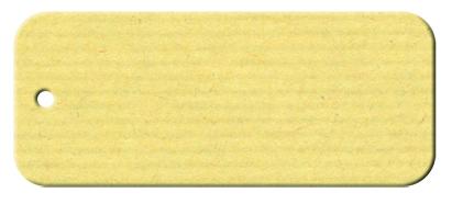 Anhängekarte Rechteck 70x 25mm - Naturpapier Karton Packung á 50 Stück Stück
