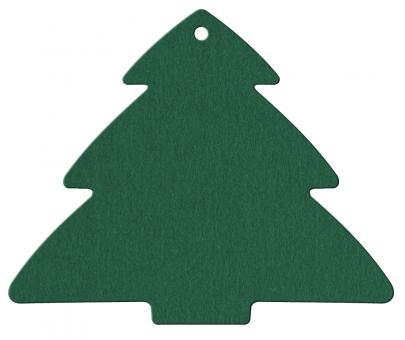 Anhängekarte Tannenbaum 85x70mm Karton grün Packung á 50 Stück Stück