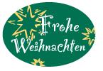 Schmucketikett Frohe Weihnachten 46x 32mm - grün matt Selbstklebend Farbe: silber/gold Packung á 250 Stück auf Rolle Stück
