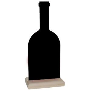 Kreidetafel Weinflasche als Tischaufsteller inkl. Holzaufsteller Stück