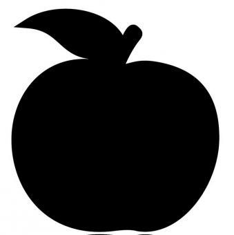 Kreidetafel aus Kunststoff Form: Apfel Stück