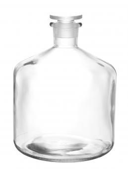Bürettenflasche 2300ml weiß inkl. geschliffenem Glasverschluss Stück