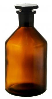 Steilbrustflasche 250ml braun Enghals inkl. geschliffenem Glasverschluss Stück