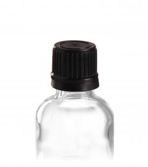 DIN18 Schraubverschluss Premium mit PE Dichtscheibe schwarz mit Originalitätsverschluss Stück