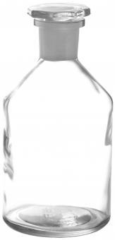 Steilbrustflasche 500ml weiß inkl. geschliffenem Glasverschluss Stück