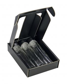 3er Geschenkkarton schwarz - Provetta 50ml - Pack á 25 Stück Stück