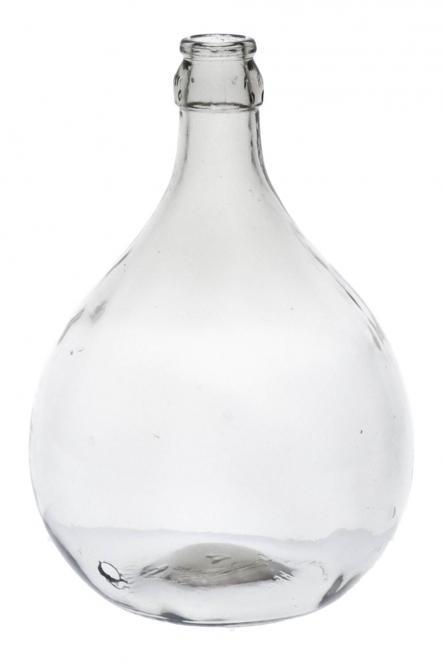 Glasballon   5000ml weiß gebohrt 28mm Stück