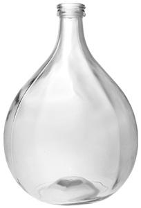 Glasballon 25000ml weiß blank 40mm
