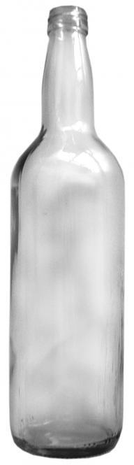 Kropfhalsflasche 700ml weiß PP28 Stück