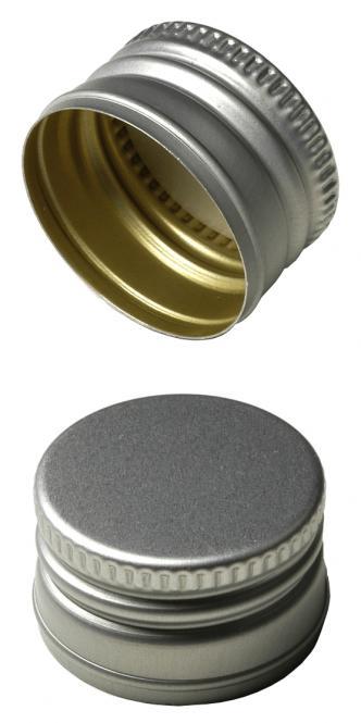 PP22 Schraubverschluss silber - ALU mit Gewinde