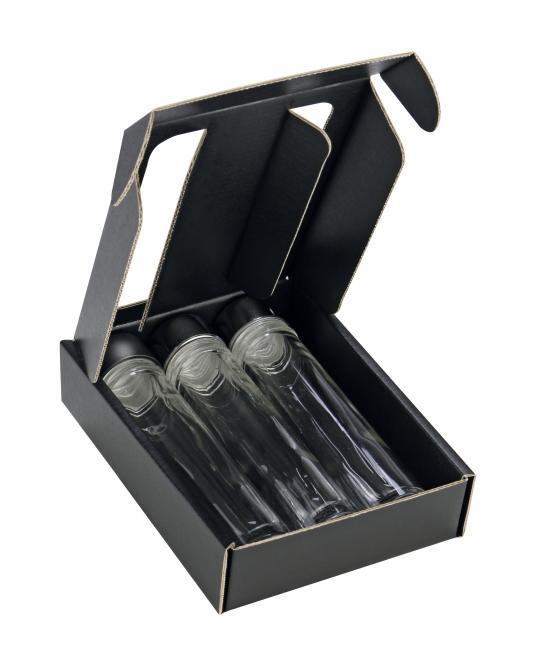 Provetta 50ml - 3er Geschenkkarton schwarz Pack á 25 Stück Stück