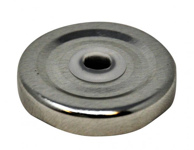 Deckel TO43 silber gebohrt Stück