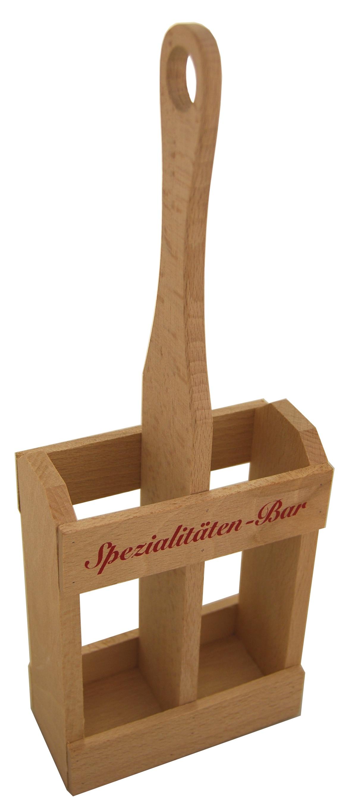 flaschengro handel reis holzgestell natur f r 2 flaschen klein online kaufen. Black Bedroom Furniture Sets. Home Design Ideas