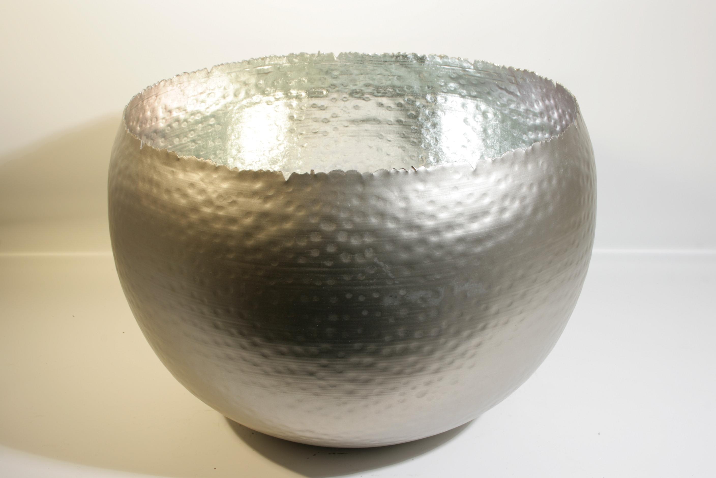 Topf la bomba aus metall perlmutt silber d 25cm st ck for Dekoartikel metall